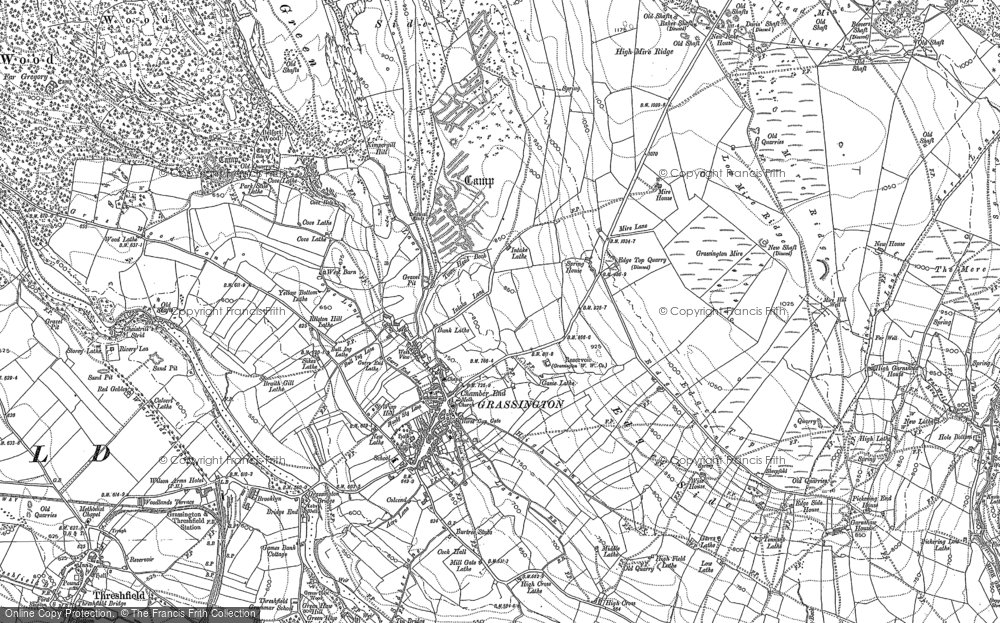 Old Map of Historic Map covering Bare Ho in 1907