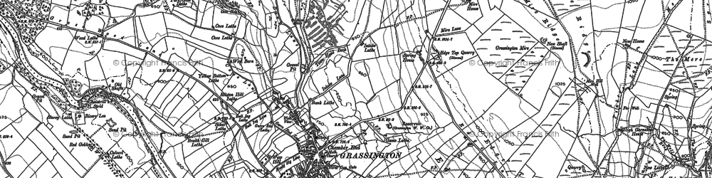 Old map of Grassington in 1907