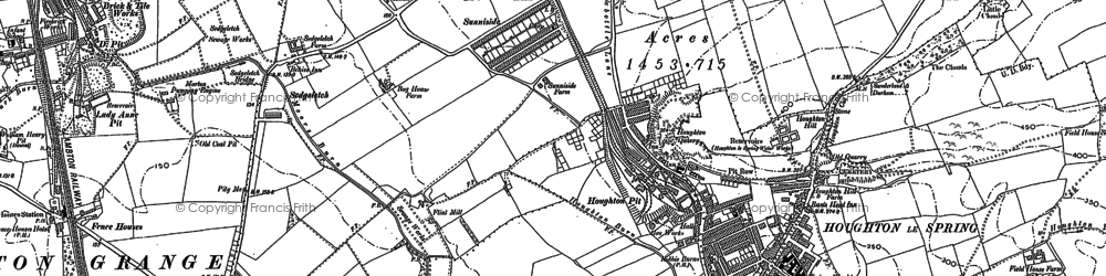 Old map of Houghton-Le-Spring in 1895