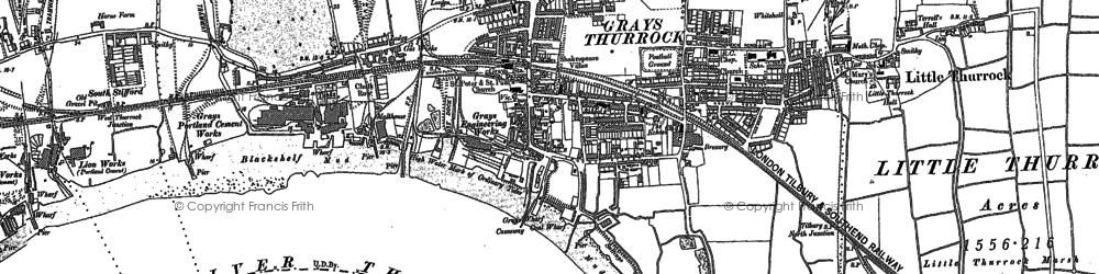 Old map of Grays in 1895