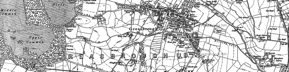 Old map of Greasbrough in 1890