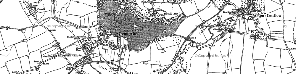 Old map of Alne End in 1885
