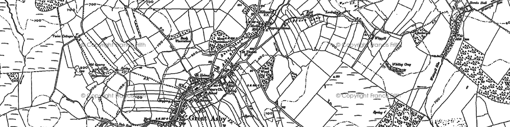 Old map of Asby Hall in 1897