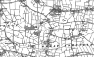 Old Map of Great Ashfield, 1883 - 1884