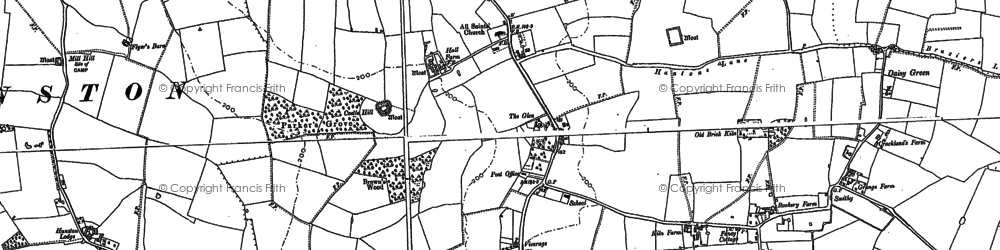 Old map of Ashfield Haugh in 1883