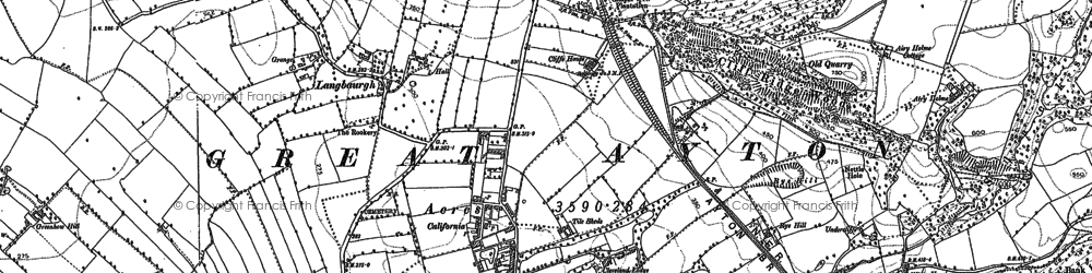 Old map of Langbaurgh in 1892