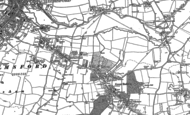 Old Map of Great Baddow, 1895