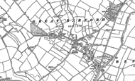 Old Map of Great Barford, 1882