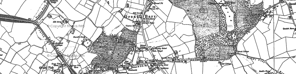Old map of Great Barr in 1901