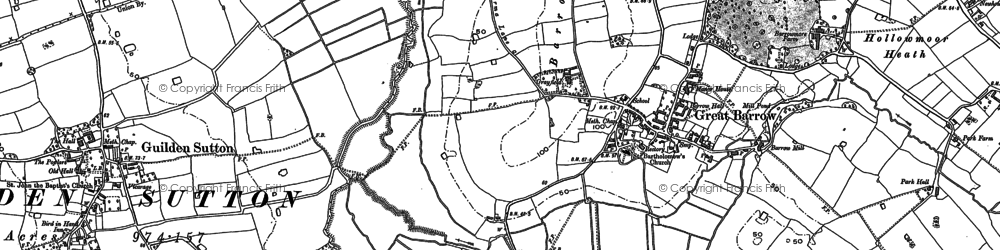 Old map of Ardmore in 1897
