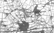 Old Map of Great Bealings, 1881
