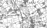 Old Map of Great Blakenham, 1883