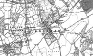 Old Map of Great Bookham, 1894 - 1895