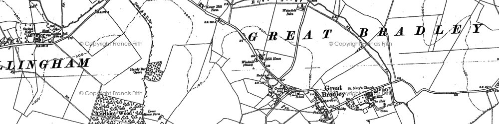 Old map of Widgham Green in 1901