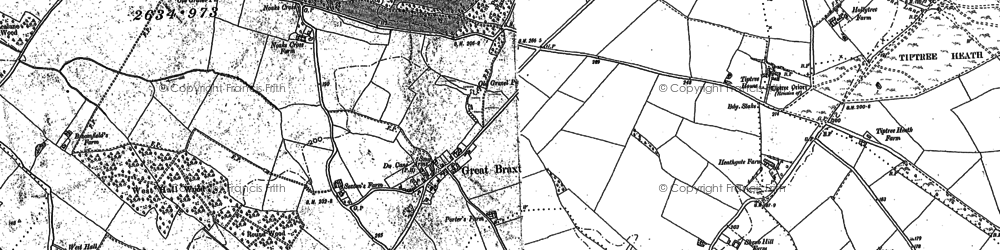 Old map of Tiptree Priory in 1895