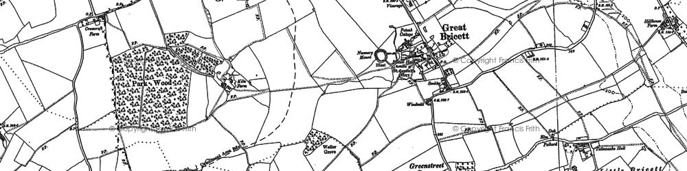Old map of Tollemache Hall in 1884