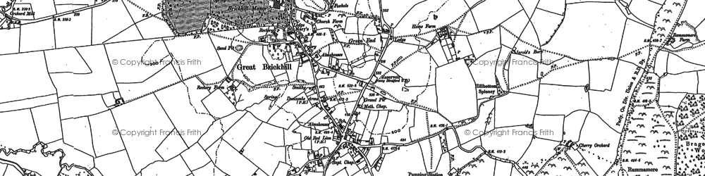 Old map of Great Brickhill in 1923