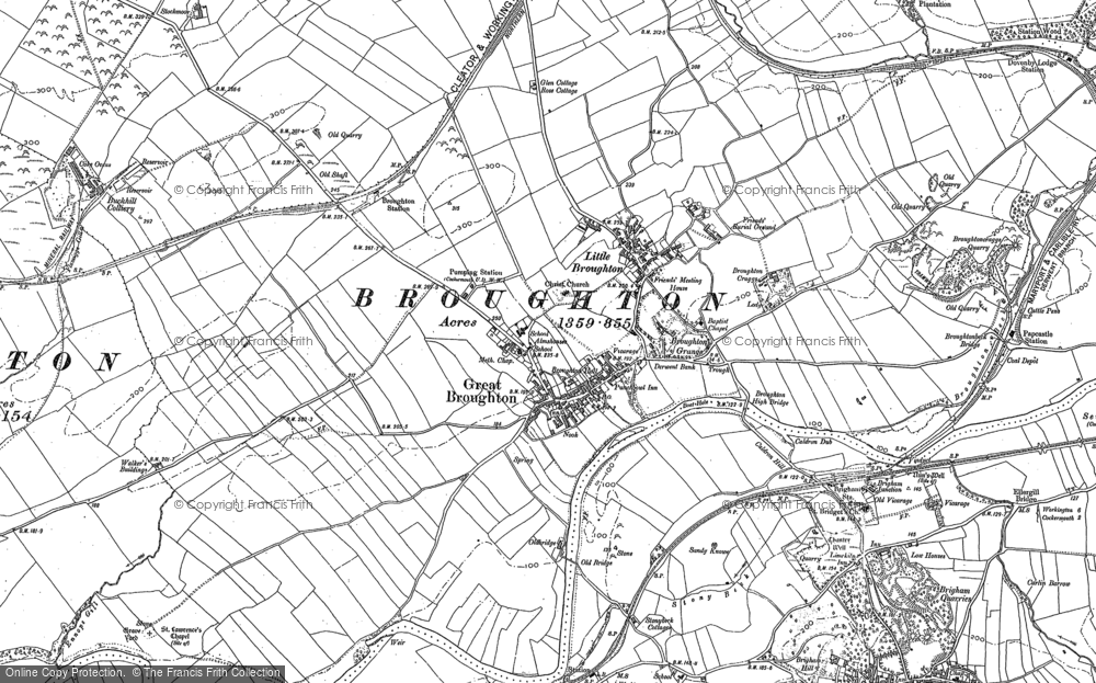Map of Great Broughton, 1898 - 1923
