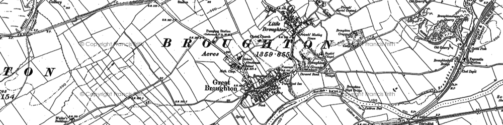 Old map of Great Broughton in 1898