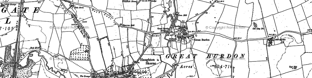 Old map of Lingfield in 1896