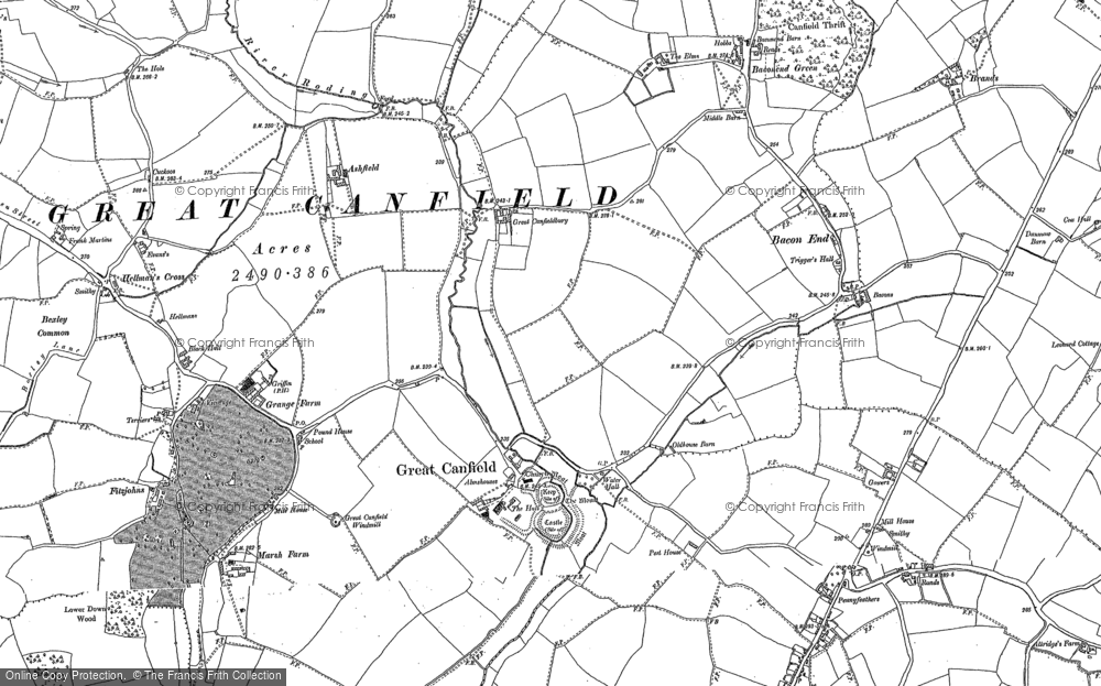 Old Map of Historic Map covering Woolard's Ash in 1895