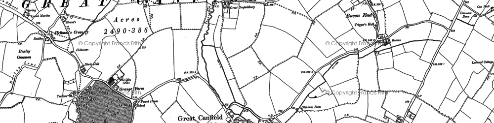 Old map of Woolard's Ash in 1895
