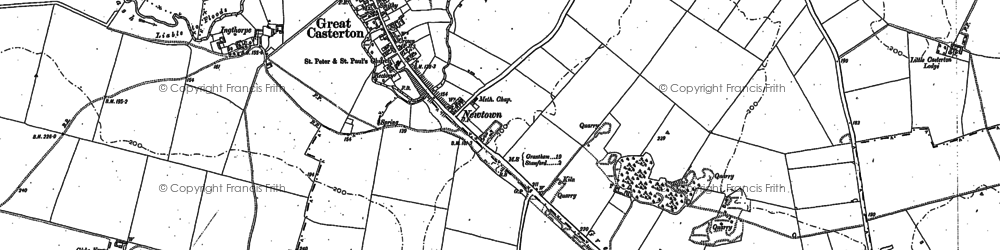 Old map of Woodhead in 1885