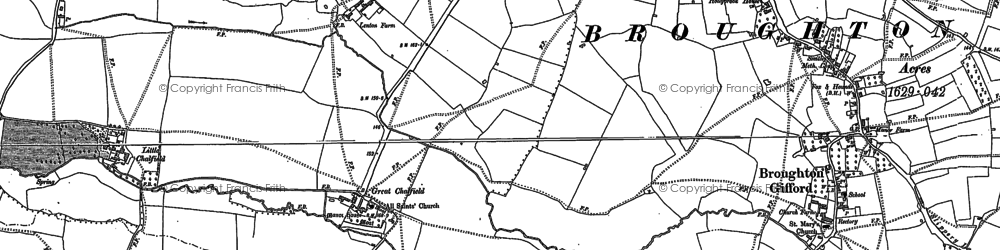 Old map of Great Chalfield in 1922