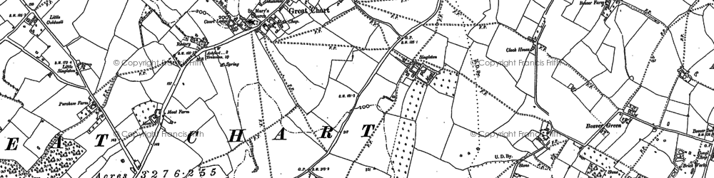 Old map of Great Chart in 1896