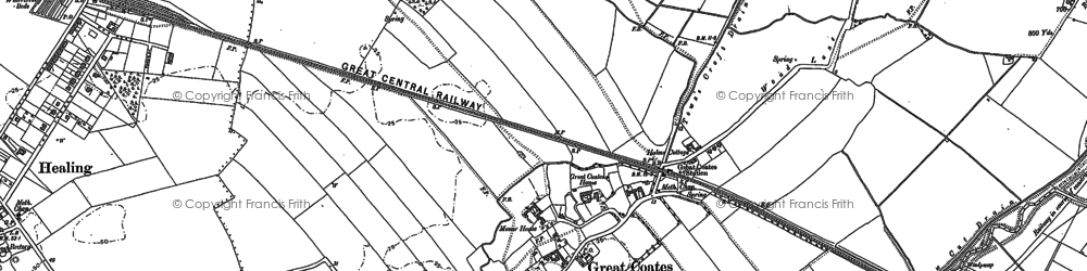 Old map of Yarborough in 1887