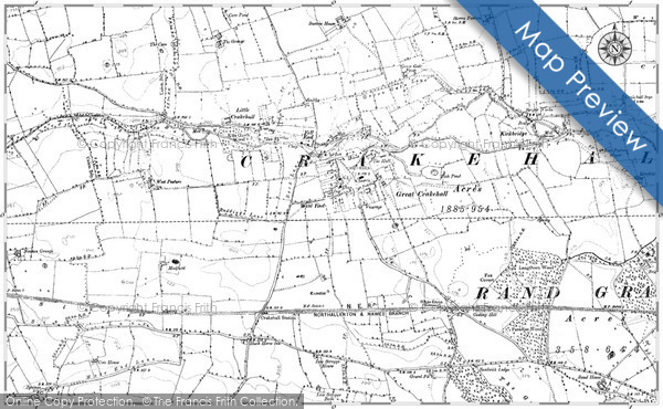 Old Map of Historic Map covering Langthorn Wood in 1890