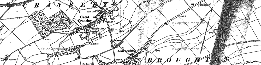 Old map of White Hill Lodge in 1884