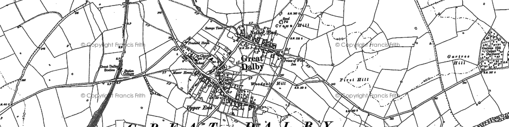 Old map of Woodgate Hill in 1884