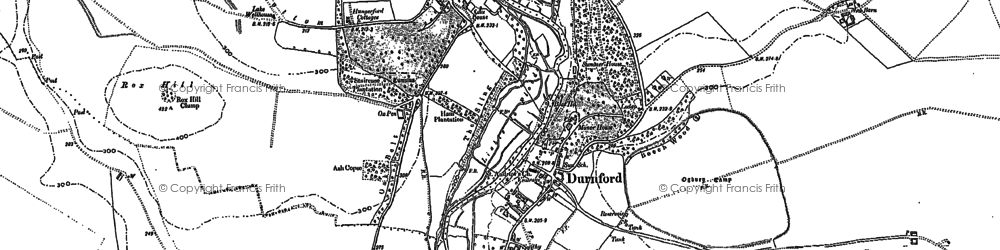 Old map of Great Durnford in 1889