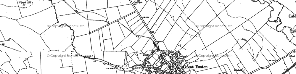 Old map of Wignell Hill in 1899