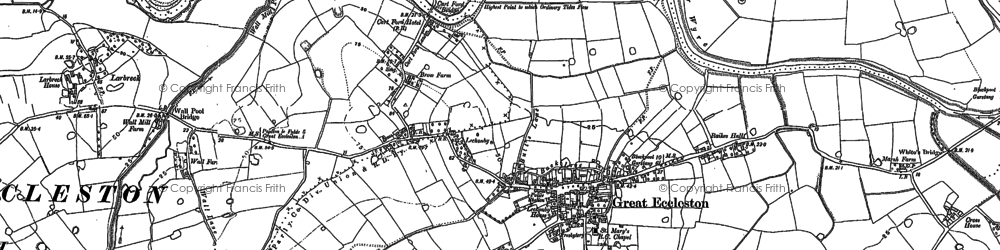 Old map of White Hall in 1891