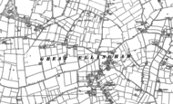 Old Map of Great Ellingham, 1882