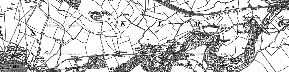 Old map of Bedlam in 1902