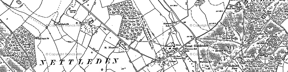 Old map of Great Gaddesden in 1897