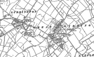 Old Map of Great Gidding, 1887 - 1899