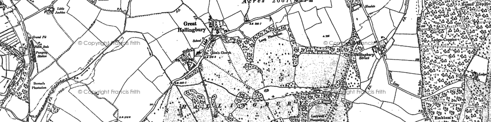 Old map of Woodside Green in 1895