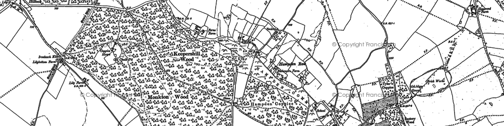 Old map of Great Hampden in 1897