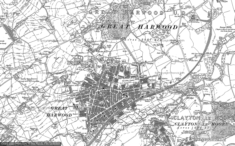 Old Map of Historic Map covering Allsprings in 1892