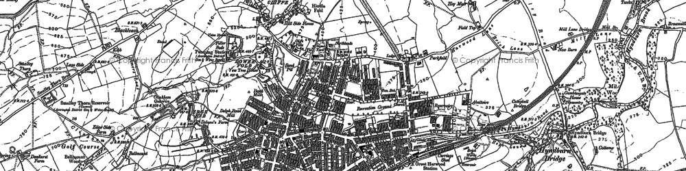 Old map of Allsprings in 1892