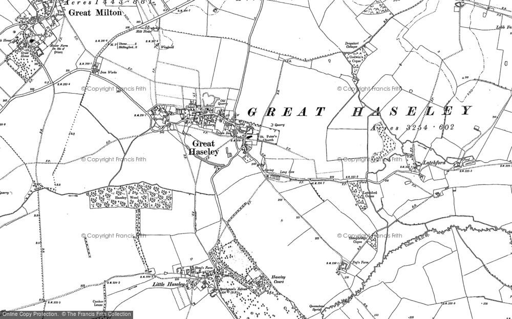Old Map of Historic Map covering Latchford in 1897