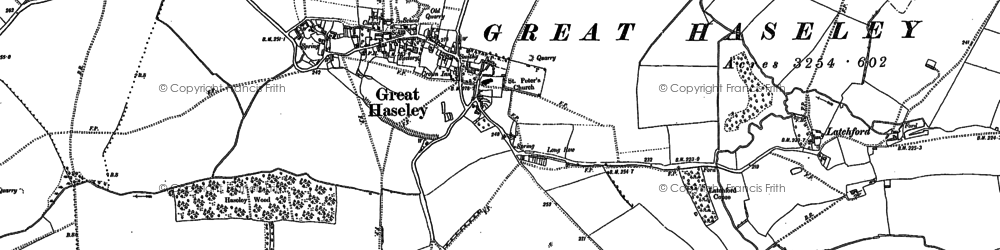Old map of Latchford in 1897