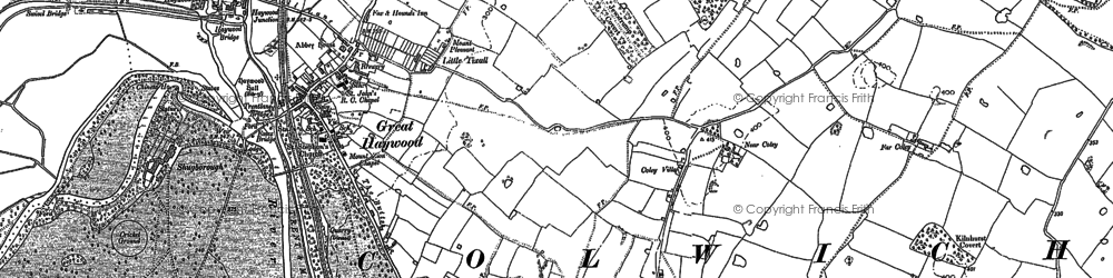 Old map of Tolldish in 1881