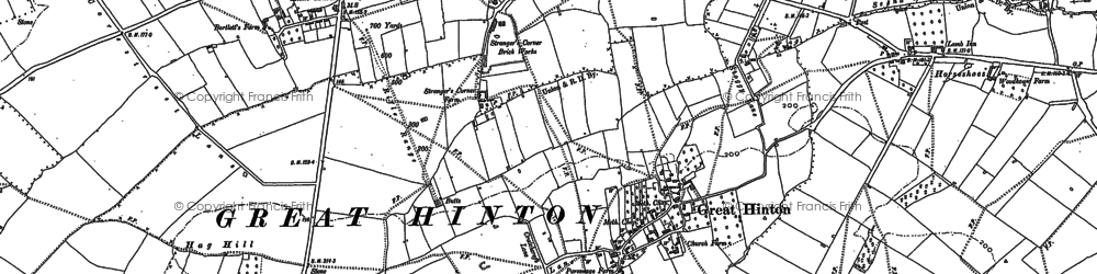 Old map of Ashton Common in 1899
