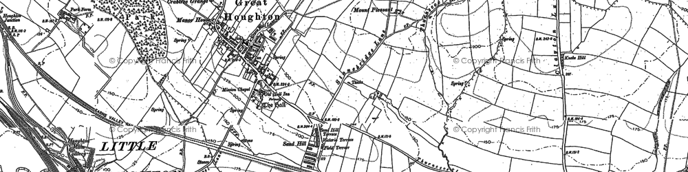 Old map of Great Houghton in 1851