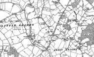 Old Map of Great Leighs, 1895 - 1896